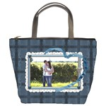 Blue Love Bucket Bag