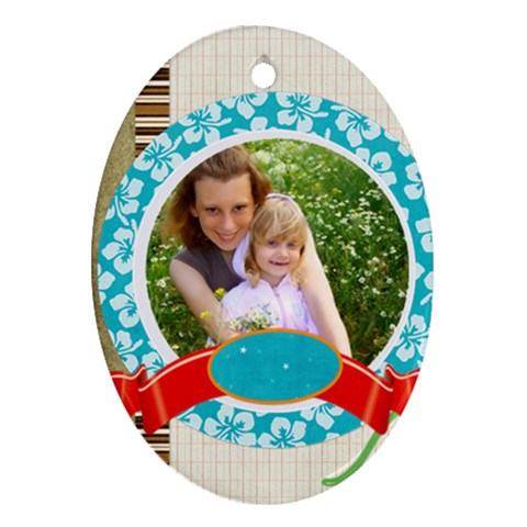 Kids By Joely   Ornament (oval)   A1vt02emfdr5   Www Artscow Com Front