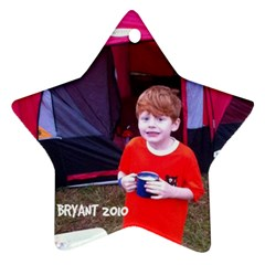 Bryant Ornament By Cindy Blair Speigle   Star Ornament (two Sides)   Hgdla887tgji   Www Artscow Com Front