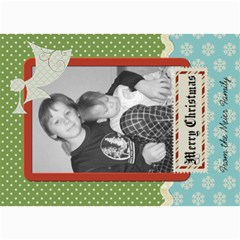 Merry Christmas Card With Angel By Martha Meier   5  X 7  Photo Cards   K3a2vv0nw10h   Www Artscow Com 7 x5 Photo Card - 7