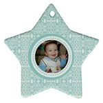 Tiffany Blue Lace Star Ornament - Ornament (Star)