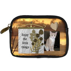 Enjoy The Little Things Camera Case By Lil    Digital Camera Leather Case   E0hk813nmnei   Www Artscow Com Front