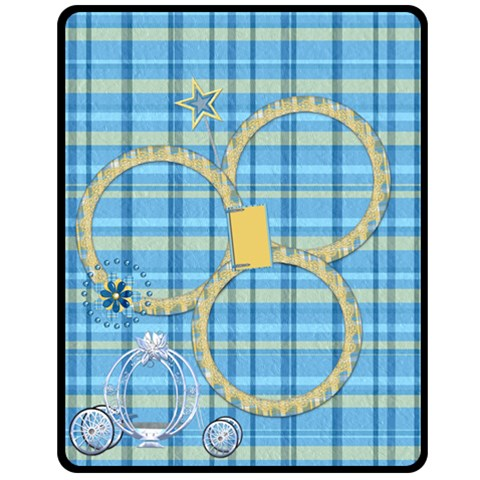 Blanket Ella In Blue  Medium 1001 By Lisa Minor   Fleece Blanket (medium)   Rw6ru4lgkw1r   Www Artscow Com 60 x50 Blanket Front