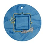 Ornament-Ella in Blue 1001 - Round Ornament (Two Sides)