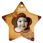 Scroll Upon a Star 2010 star ornament - Ornament (Star)