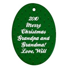 2010ornament By Tracy Clair   Oval Ornament (two Sides)   Bubbec0v82tj   Www Artscow Com Back