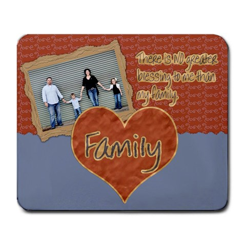 No Greater Blessing Family Mousepad By Danielle Christiansen   Large Mousepad   Uzemk5qdznkg   Www Artscow Com Front