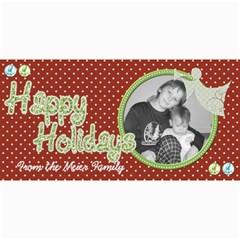 Happy Holidays Card 4 By Martha Meier   4  X 8  Photo Cards   Mxl8fd09etzq   Www Artscow Com 8 x4 Photo Card - 10