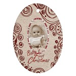 Baby s first Christmas  oval ornament - Ornament (Oval)
