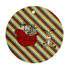 Joy Ornament 4 By Sheena   Round Ornament (two Sides)   Kc08uekaej5r   Www Artscow Com Back