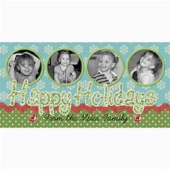 Happy Holidays 6 By Martha Meier   4  X 8  Photo Cards   98azv8irbmxh   Www Artscow Com 8 x4 Photo Card - 6