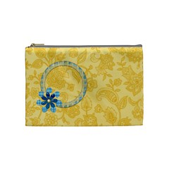 Cosmetic Bag Ella In Blue Medium 1001 By Lisa Minor   Cosmetic Bag (medium)   Dcxeavgyp8g1   Www Artscow Com Front