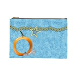 Cosmetic Bag-Ella in Blue Large 1001 - Cosmetic Bag (Large)