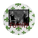 2 side family frame ornament - Round Ornament (Two Sides)