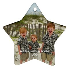 My Boys Ornanment By Cindy Blair Speigle   Star Ornament (two Sides)   83n18z0zta1d   Www Artscow Com Front