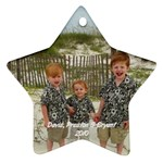 my boys ornament 2 - Ornament (Star)