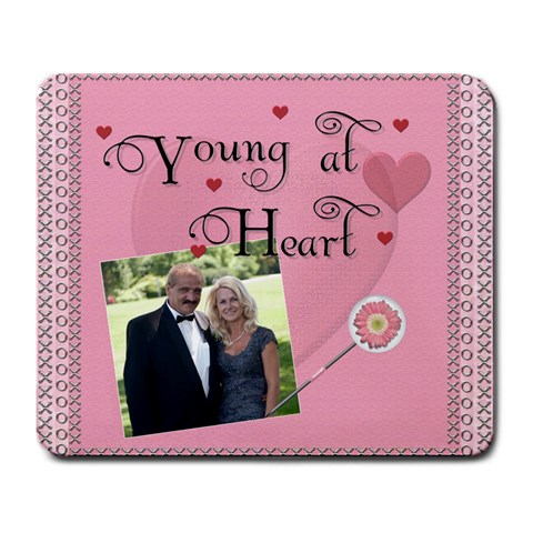 Young At Heart Large Mousepad By Lil    Large Mousepad   Wx2weq1ol4jw   Www Artscow Com Front