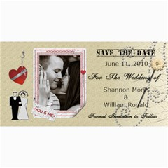Wedding Save The Date Cards #3 By Lil    4  X 8  Photo Cards   Y192c4k0y1lu   Www Artscow Com 8 x4 Photo Card - 5