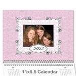 Charming Pink 2015 12 Month Calendar - Wall Calendar 11  x 8.5  (12-Months)