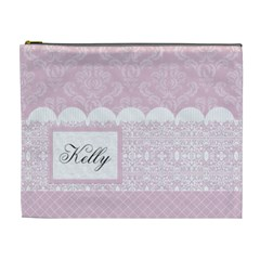 Charming Pink Xl Cosmetic Bag By Klh   Cosmetic Bag (xl)   Nayf5ffdj658   Www Artscow Com Front