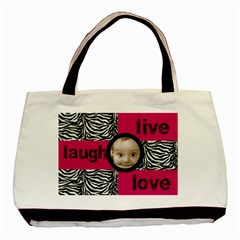 Live Laugh Love Zebra Print Tote Bag By Catvinnat   Basic Tote Bag (two Sides)   Fyvxcvqh18on   Www Artscow Com Front