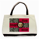live laugh love zebra print tote bag - Basic Tote Bag (Two Sides)