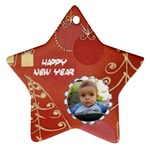 Happy New Year - Ornament (Star)