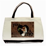 you & me forever leopard print tote bag - Basic Tote Bag (Two Sides)