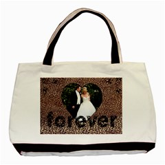 You & Me Forever Leopard Print Tote Bag By Catvinnat   Basic Tote Bag (two Sides)   Tf3nugoeee3s   Www Artscow Com Back