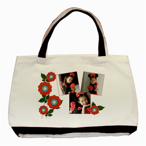 Tote Bag  Red Flowers By Jennyl   Basic Tote Bag   P385ml50smwk   Www Artscow Com Front