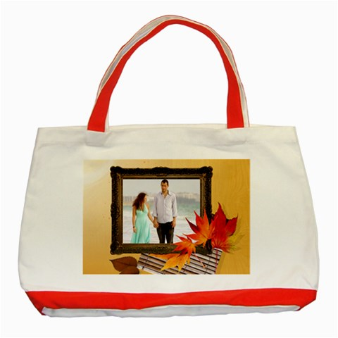 Fall Bag By Wood Johnson   Classic Tote Bag (red)   Df7bwgzd6t2l   Www Artscow Com Front