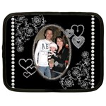 Pearls & Hearts Large Netbook Case - Netbook Case (Large)
