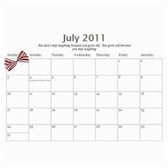 Calendar By Rebecca   Wall Calendar 11  X 8 5  (12 Months)   Nnccjl1rein8   Www Artscow Com Jul 2011