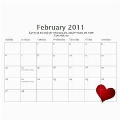 Calendar By Rebecca   Wall Calendar 11  X 8 5  (12 Months)   Nnccjl1rein8   Www Artscow Com Feb 2011