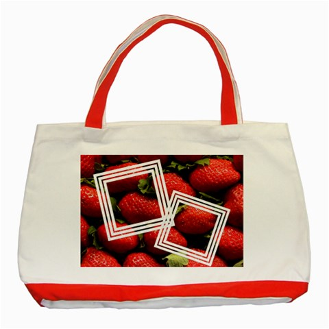 Strawberry   Tote Bag By Carmensita   Classic Tote Bag (red)   Yrfw1svstw0l   Www Artscow Com Front