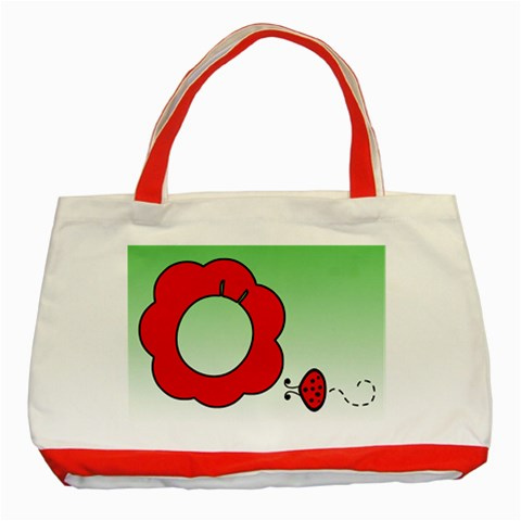 Ladybug   Tote Bag By Carmensita   Classic Tote Bag (red)   C03l5lno0c6y   Www Artscow Com Front