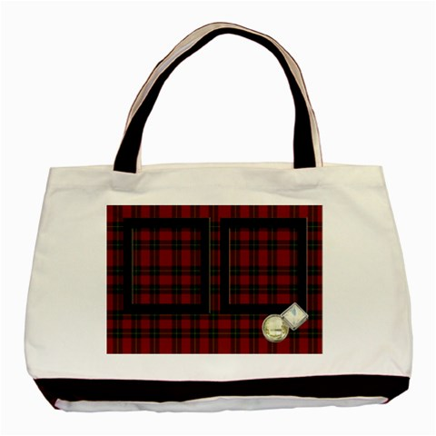 Red Tartan   Tote Bag By Carmensita   Basic Tote Bag   5tts93kuv9ll   Www Artscow Com Front