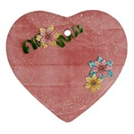 Pink flowers-ornament - Ornament (Heart)