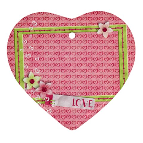 Love & Hearts Ornament By Mikki   Ornament (heart)   Xyp6qqqamodt   Www Artscow Com Front