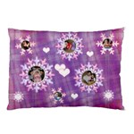 Pink Purple Plaid Pillow Case