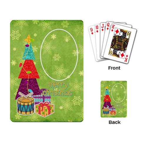 Gumdrops Tree Cards By Bitsoscrap   Playing Cards Single Design   Spynikr7zed6   Www Artscow Com Back