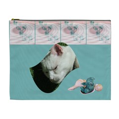 Teddy Time Xl Cosmetic Case By Joan T   Cosmetic Bag (xl)   K15g6nnpluke   Www Artscow Com Front