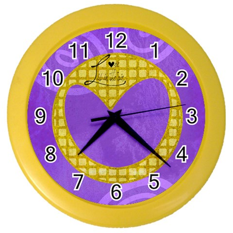 Love Is In The Air   Clock By Carmensita   Color Wall Clock   3fkkappsfqpt   Www Artscow Com Front