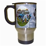 Football Mug - Travel Mug (White)