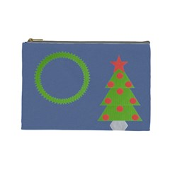 Christmas Tree 1 By Daniela   Cosmetic Bag (large)   Yjkipaf56td8   Www Artscow Com Front
