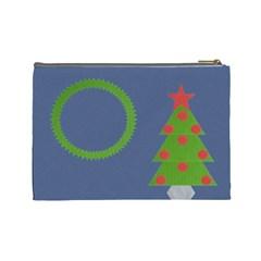 Christmas Tree 1 By Daniela   Cosmetic Bag (large)   Yjkipaf56td8   Www Artscow Com Back