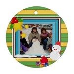 Christmas snowman ornament - Ornament (Round)