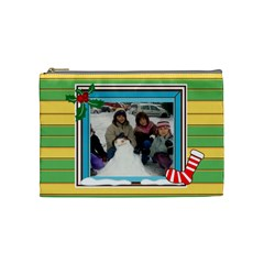 Christmas Cosmetic Bag Medium By Katsako   Cosmetic Bag (medium)   Kq82pe7ks232   Www Artscow Com Front