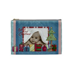 Baby s First Christmas Cosmetic Bag By Catvinnat   Cosmetic Bag (medium)   N0k0bqyprrvk   Www Artscow Com Front