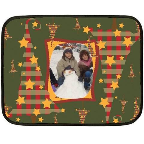 Christmas Stars Fleece Blanket By Katsako   Fleece Blanket (mini)   06btog21p58q   Www Artscow Com 35 x27 Blanket